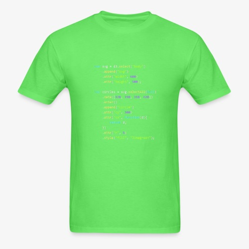 d3.js program - Men's T-Shirt