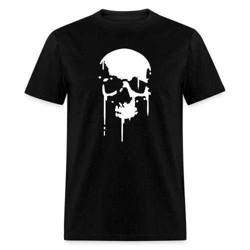 SKULL BLOOD SPLATTER METAL PUNK Vector - Men's T-Shirt