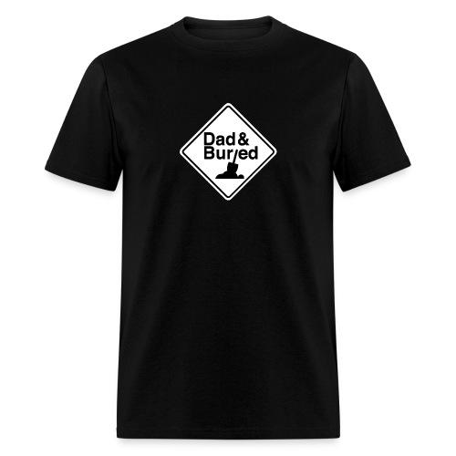 D B logos vert B on W trans Merch - Men's T-Shirt