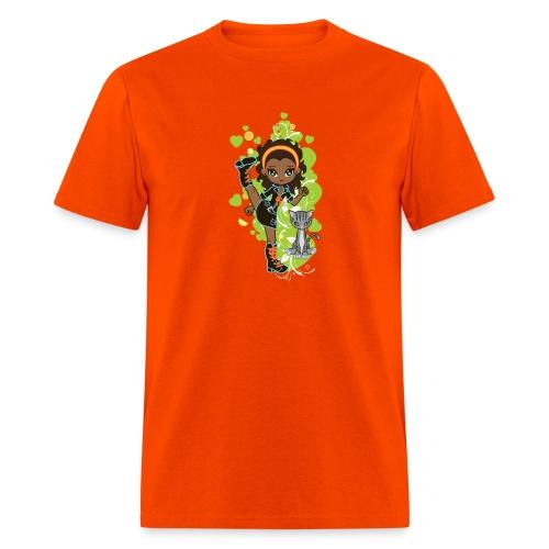 Aisha the African American Chibi Girl - Men's T-Shirt