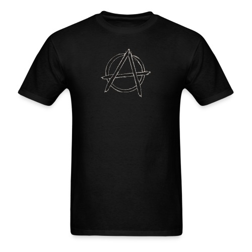 Anarchy in black silver - Men's T-Shirt