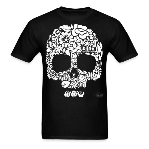 flower skull2 png - Men's T-Shirt