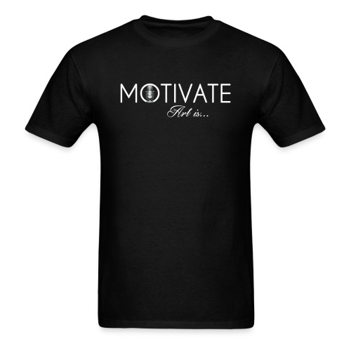 Motivate Logo white 2 - Men's T-Shirt