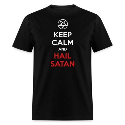 Keep Calm and Hail Satan - Men's T-Shirt