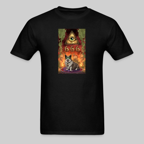 Satanic Corgi - Men's T-Shirt