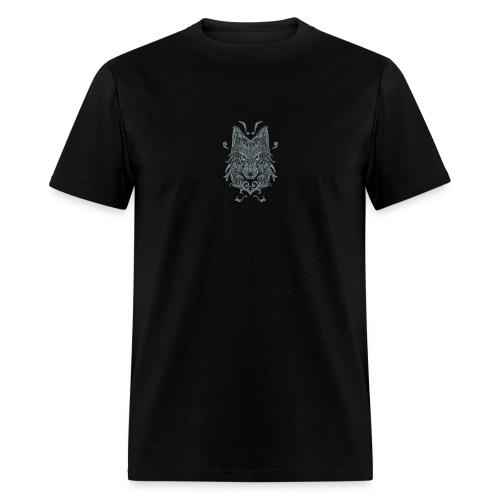 Wolf, Wolf Art, Wolf Drawing - Men's T-Shirt