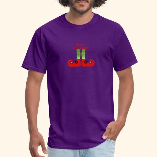 Elf Feet Merry Christmas Design - Men's T-Shirt