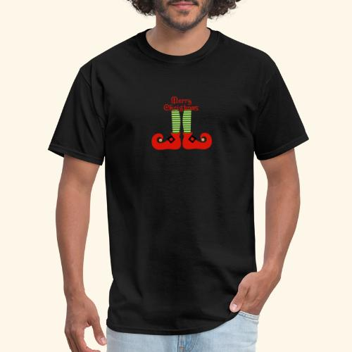 Elf Feet Merry Christmas Design - Men's T-Shirt