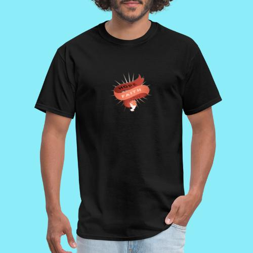 HOPE FAITH AND LOVE ribbon floating in the air - Men's T-Shirt