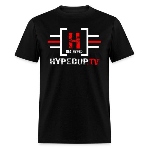 HypedUpTV Red/White - Men's T-Shirt