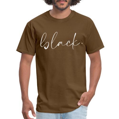 black tee white2 - Men's T-Shirt