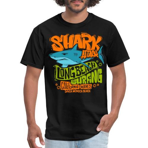 shark surf surfing california - Men's T-Shirt