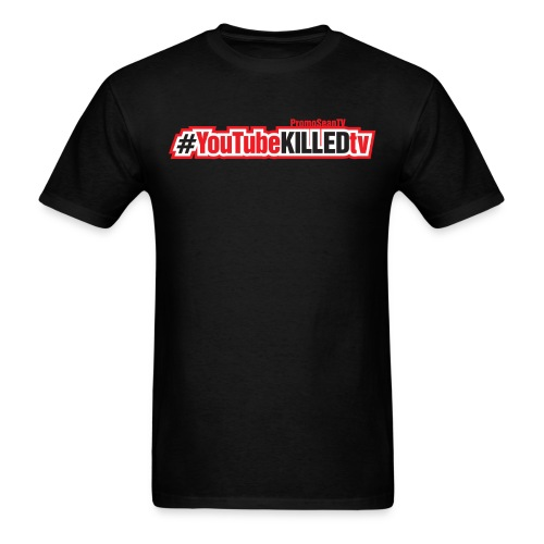 youtube killed tv tshirt print2 png - Men's T-Shirt