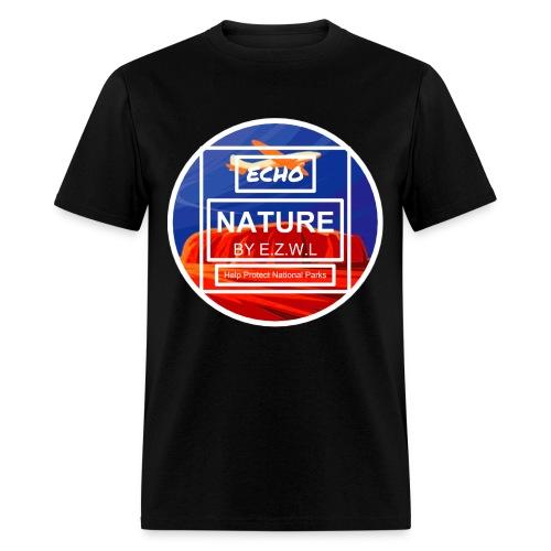 ECHO™Nature Ayers Rock Logo T-Shirt Black - Men's T-Shirt