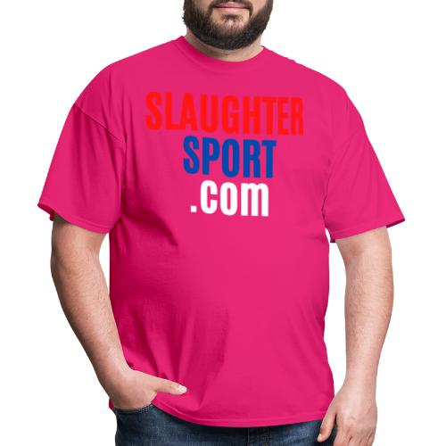 SLAUGHTERSPORT COM (Front & Back) - Men's T-Shirt