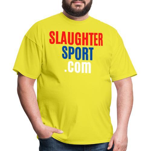 SLAUGHTERSPORT COM (Front & Back) - Men's T-Shirt