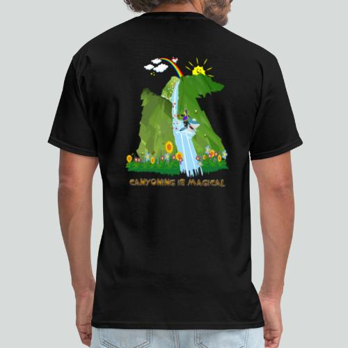 CANYONING IS MAGICAL-on dark back-2 sided - Men's T-Shirt