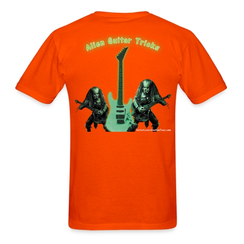 AlienGuitarTricks by GuitarLoversCustomTees png - Men's T-Shirt