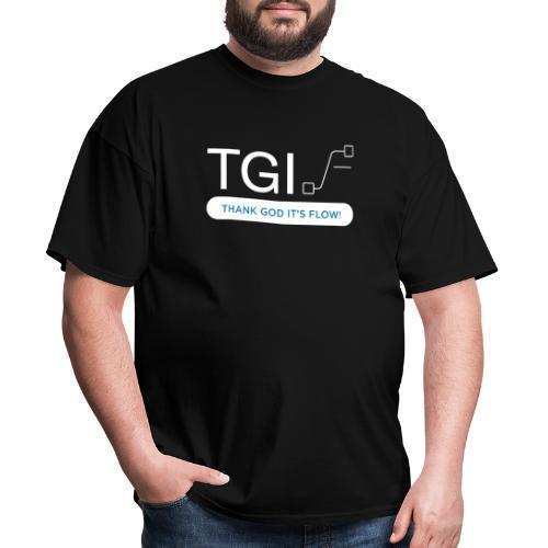 TGIF White on Black - Men's T-Shirt