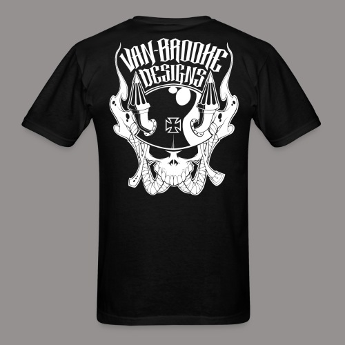 Van Brooke MotoSkull - Men's T-Shirt
