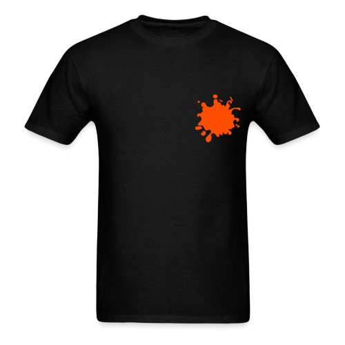 Black Explosion Network Logo w/Pocket Splatter Tee - Men's T-Shirt