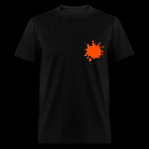 Black Explosion Network Logo w/Pocket Splatter Tee - Men's T-Shirt