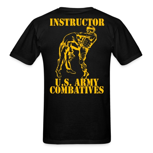 Army Combatives Knee Instructor Gold - Men's T-Shirt