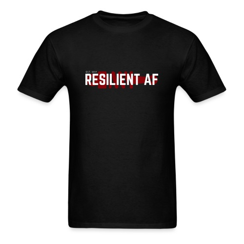 RESILIENT WHITE with red - Men's T-Shirt