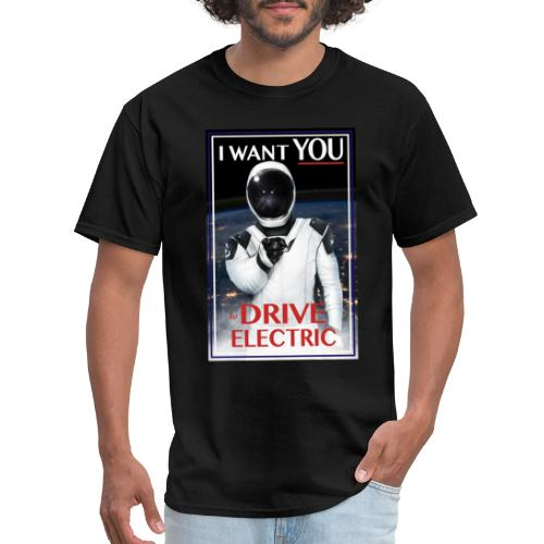 National Drive Electric Week With Spaceman Design - Men's T-Shirt