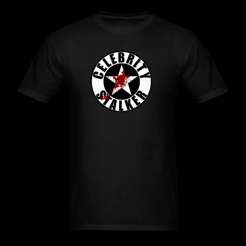 Celebrity Stalker Bloody Circle Logo - Men's T-Shirt