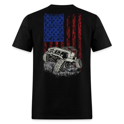 Jeep American Flag - Men's T-Shirt