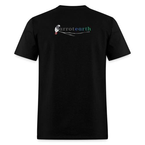 ParrotEarth Logo2TM gradient png - Men's T-Shirt