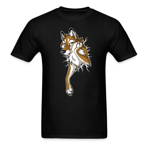 STUCK Wolf Caramel (double-sided) - Men's T-Shirt