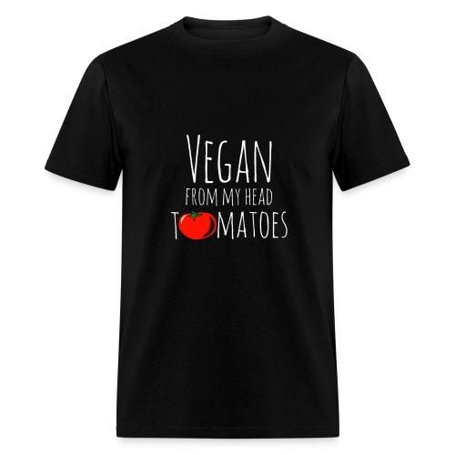 Vegan from my head tomatoes - Men's T-Shirt