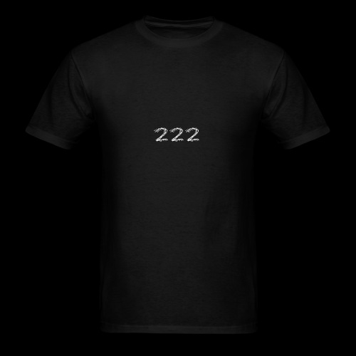 222 Chalk Style Pocket Logo - Men's T-Shirt