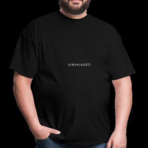 Unhinged Text Design WHITE - Men's T-Shirt