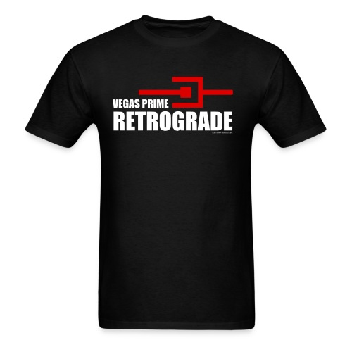 Vegas Prime Retrograde - Title and Hack Symbol - Men's T-Shirt