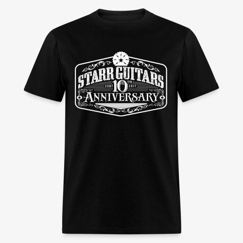 Starr Guitars 10th Anniversary White Logo - Men's T-Shirt