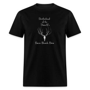 Brotherhood of the Three B's (Bacon, Beards, Brew) - Men's T-Shirt