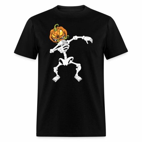Funny Dabbing Skeleton Pumpkin Halloween T-Shirt - Men's T-Shirt