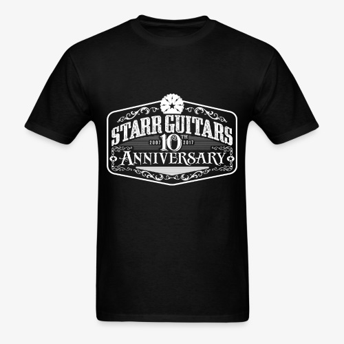 Starr Guitars 10th Anniversary White Logo - Men's T-Shirt