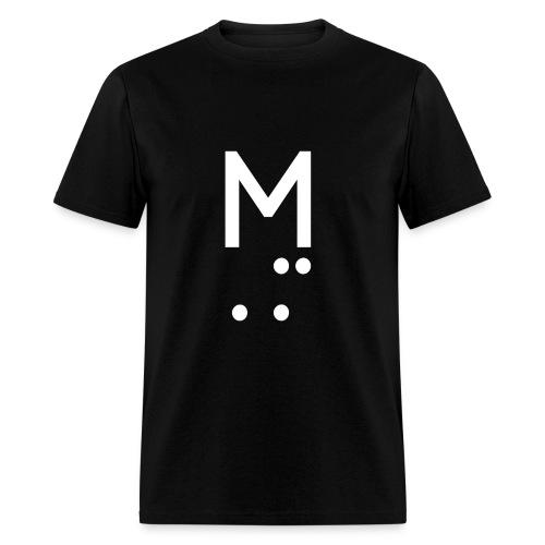 M LOGO WHITE - Men's T-Shirt