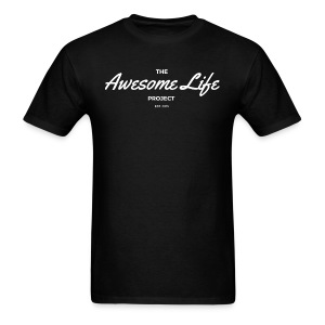 The AwesomeLife Project Logo White - Men's T-Shirt
