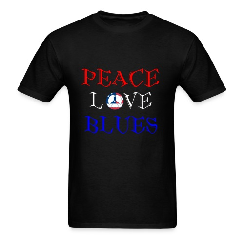Peace, Love and Blues - Men's T-Shirt