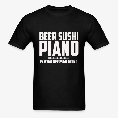 BEER SUSHI PIANO T-SHIRT - Men's T-Shirt