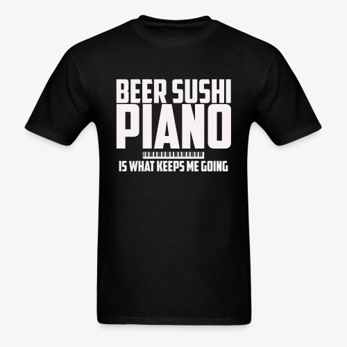 BEER SUSHI PIANO T-SHIRT - Men's T-Shirt
