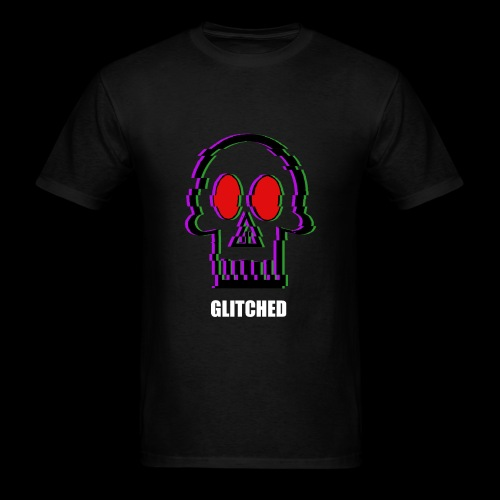 Glitched Skull - Men's T-Shirt