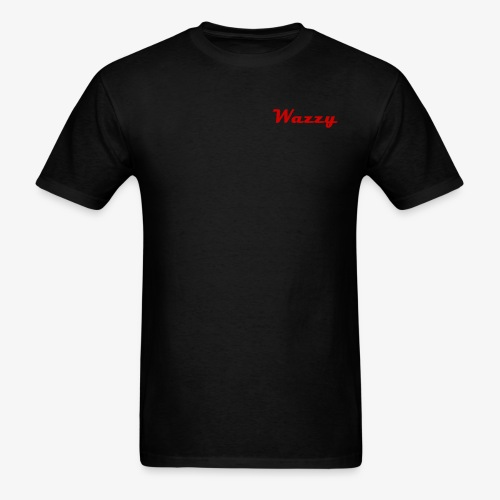 Wazzy Black and Red - Men's T-Shirt