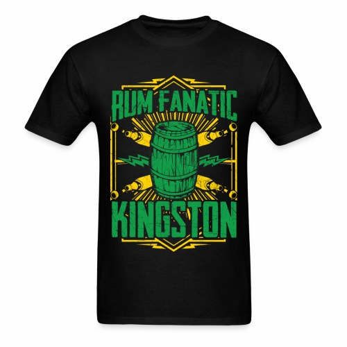 Rum Fanatic T-shirt - Kingston, Jamaica - Men's T-Shirt