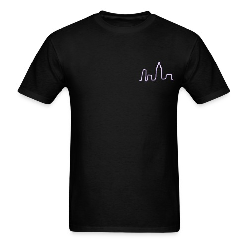 City Scape Neon Lights - Men's T-Shirt